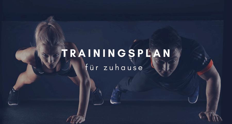 Trainingsplan für zuhause