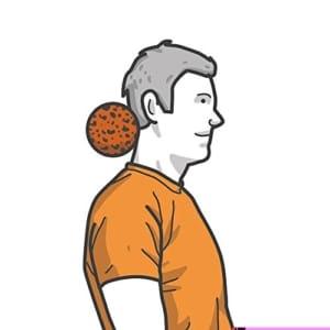 Faszienball Verspannungen im Nacken lösen