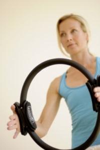 Pilates Ring im Einsatz
