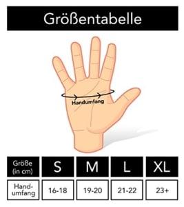 Fitnesshandschuh richtige Größe