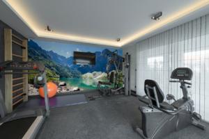 Fototapete Landschaft im Fitnessstudio zuhause