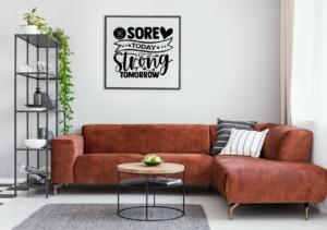 Sport-Poster Motivation im Wohnzimmer